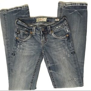 MEK Denim USA Kailua Distressed Light Wash Jeans